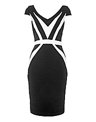 Montique Monochrome Bandage Dress