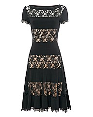 Joseph Ribkoff Lace Panel Dress
