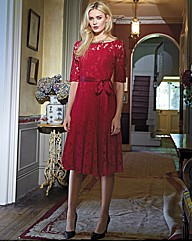 Montique Lace Fit & Flare Dress