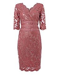 Montique Sequinned Lace Dress