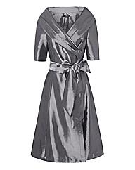 Montique Satin Wrap Dress