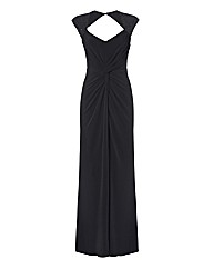 Montique Embellished Jersey Gown