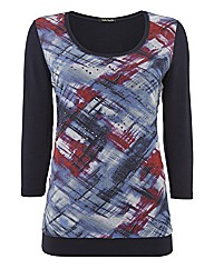 Betty Barclay Printed Jersey Top