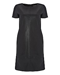 Esprit Mock Leather Shift Dress