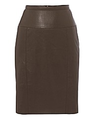 Apanage Mock Leather Pencil Skirt