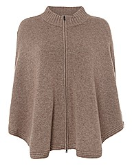 Apanage Luxe-knit Wool & Cashmere Poncho
