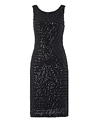 Apanage Sequinned Mesh Dress