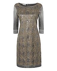 Apanage Embellished Satin Dress