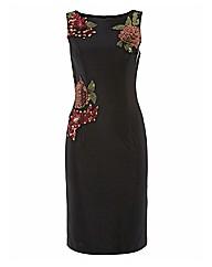 Bernshaw Sequin Flowers Jersey Dress