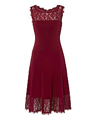 Bernshaw Lace & Pleated Jersey Dress