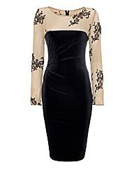 Frank Lyman Corded Lace-detail Dress