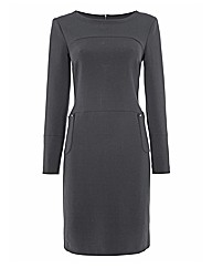 Apanage Ponte Jersey Shift Dress