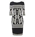 Joseph Ribkoff Scarf-print Jersey Dress