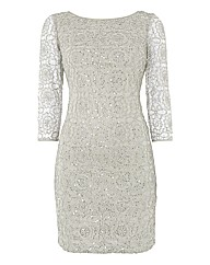 Adrianna Papell Shimmer Lace Dress