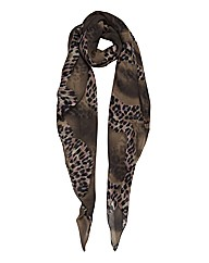 Helene Berman Leopard Flash Silk Scarf