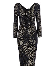 Gina Bacconi Animal Jersey Dress