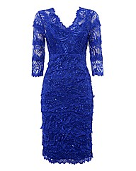 Gina Bacconi Tiered Lace Dress