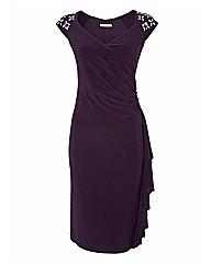Gina Bacconi Beaded Jersey Dress
