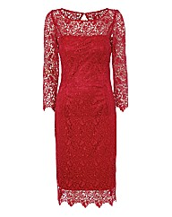 Gina Bacconi Red Lace Dress
