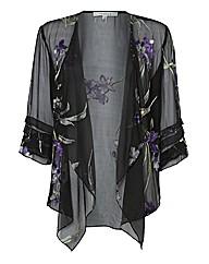 Chesca Floral Devore Jacket