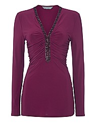 Michaela Louisa Embellished Tunic Top