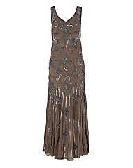 Chesca Beaded Georgette Dress