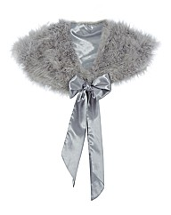 Chesca Marabou Feather Shrug
