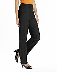 Petite Zip Stretch Trousers Length 25in