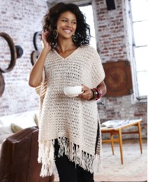 Fringed Edges Poncho