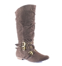 Legroom Buckle & Stud Strap Boots E Fit