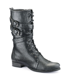 Viva La Diva Double Buckle Boots D Fit