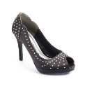 Viva La Diva Stud Peep Toe Shoes D Fit