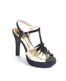 Viva La Diva Twist T Bar Sandals EEE Fit