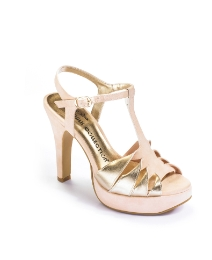 Viva La Diva Twist T Bar Sandals E Fit
