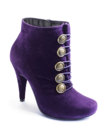 Viva La Diva Button Detail Boots D Fit