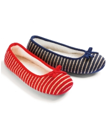 Viva La Diva Knitted Stripe Slippers