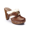Viva La Diva Shearling Clogs D Fit