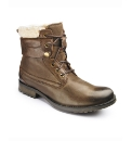 Base London Shearling Trim Boots
