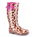 Viva La Diva Warm Lined Print Wellies E