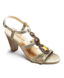 Emotion Beaded Sandal EEE Fit