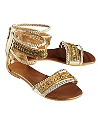 Joe Browns Beaded Sandal E Fit