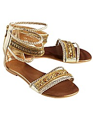 Joe Browns Beaded Sandal EEE Fit