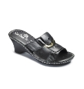 Sole Diva Wedge Mule With Buckle D Fit