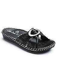 Sole Diva Diamante Trim Sandal D Fit