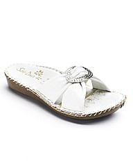 Sole Diva Diamante Trim Mules E Fit