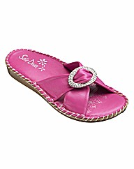 Sole Diva Diamante Trim Sandals D Fit