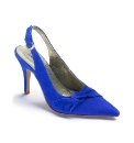 Bespoke Suede Bow Court Shoe D Fit