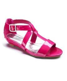 Viva La Diva Low Wedge Gladiator EEE Fit