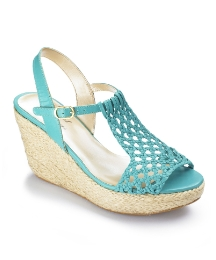 Angel Ribbons Woven T-Bar Wedges E Fit