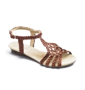 Viva La Diva Woven T-Bar Low Wedge E Fit